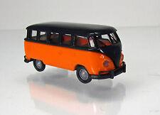 """Brekina 31834 Volkswagen VW Mindersamba T1b """"Economy"""" - schwarz/orange"""