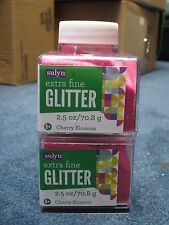 """Sulyn Extra Fine Glitter """"Cherry Blossom"""" 2.5 oz LOT OF TWO (2)"""