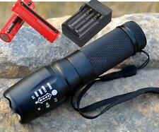 8000LM T6 LED Linterna Enfoque Flashlight Táctica Antorcha + 2x18650 + CH