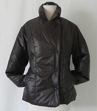 Gap Puffer Jacket Dark Brown Asymmetrical Clousure Down Size S