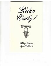 Relax Emily #1 VF/NM diary comics by M. Sauter - women's body image issues