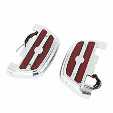 Rot Led Light Trittbrett Abdeckung Cover Footboard Floorboard Für Harley Touring