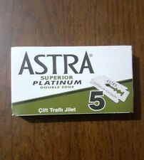50 ASTRA SUPERIOR PLATINUM DOUBLE EDGE SAFETY RAZOR BLADES (10x5)