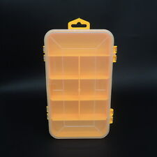 Double-sided open plastic storage boxes with lids containers bins small parts