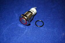 1 pc  RED  16mm 12V Led Angel Eye illuminate Momentary Metal Push Button