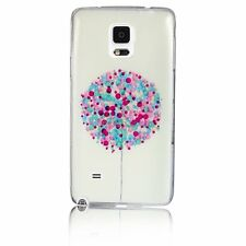 White TPU Gel Colorful Balloons Soft Back Case Cover for Samsung Galaxy Note 4
