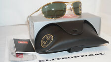 New Authentic RAY BAN Aviator OLYMPIAN Gold/Green RB3119 001 59