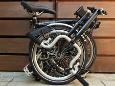 BROMPTON M-TYPE M3L BLACK FOLDING BIKE BICYCLE - WORLDWIDE POSTAGE