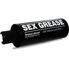 Sex Grease Water-based Personal Lubricant Lube with Vitamins & Herbs 8 Oz.