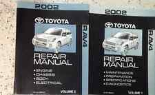 2002 Toyota Rav4 RAV 4 Service Shop Repair Workshop Manual Set OEM 2002