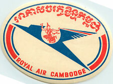 Royal Air Combodge ~CAMBODIA - VIET NAM~ Seldom Seen Old  Airline Luggage Label