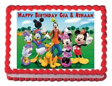 MICKEY MOUSE CLUBHOUSE party edible image cake topper decoration frosting sheet