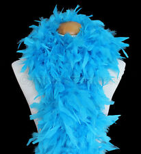 100g Chandelle Feather Boa boas, Turquoise, very fluffy