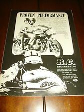 RC ENGINEERING TERRY VANCE  PROVEN PROFORMANCE ***ORIGINAL 1978 AD***