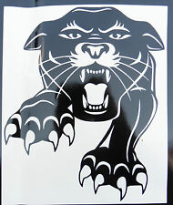 Panther cat animals nature stickers/car/van/bumper/window/decal 5241 BlacK