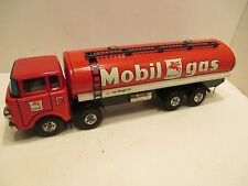 "MOBIL GAS TANKER TRUCK LARGE 14"" LONG MADE IN JAPAN  ALL METAL FRICTION"