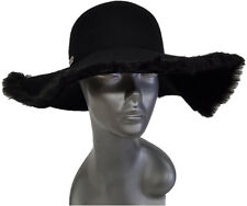 Hatch Hats Fur - Packable Wide Brim 100% Wool Felt Floppy Hat Black