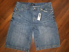 Rich Yung denim jean shorts Mens indigo blue denim jean shorts Jean shorts 36W