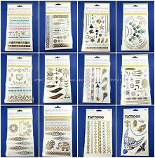 10 sheets flash gold silver metallic temporary tattoo Sexy Henna Bling body art