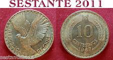 B18 CHILE CILE 10 CENTESIMOS CENTESIMI 1967 KM# 191