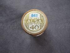 R128 Mercerie vintage ancienne bobine bois fil à coudre ALSA 841 DMC creme 40