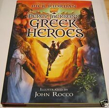 RICK RIORDAN JOHN ROCCO PERCY JACKSON'S GREEK HEROES SIGNED X2 1st NEW UNREAD