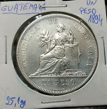 Guatemala 1894 Un Peso silver coin