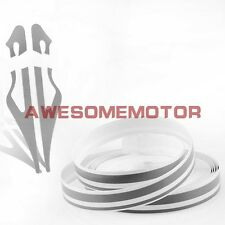 """Car Motor Truck 0.3""""*385"""" Double Pin Stripe Gray Tape Vinyl Decals Stickers AM"""