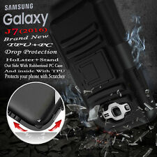 For Samsung Galaxy J7 Hybrid Tuff Hard Protective Black Case Cover