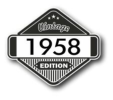 Vintage Edition 1958 Classic Retro Cafe Racer Style Vinyl Motorcycle car sticker