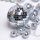 Silver Mini Disco Mirror Ball Xmas Tree Home Party Christmas Decorations Gifts
