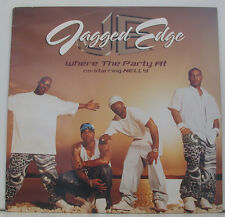 """JAGGED EDGE WHERE THE PARTY AT CO-STARRING NELLY 12"""" MAXI SINGLE (i633)"""