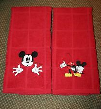 Mickey Mouse Hand/Kitchen towels 2 different designs 2 New machine embroidered