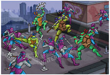 "13""x19"" TEENAGE MUTANT NINJA TURTLES print poster original TMNT cartoon fan art"
