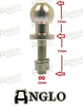 "Enganche de bola de 50mm Perno en tractor remolque 1"" 25.4mm Quad ATV Land Rover Off Road"