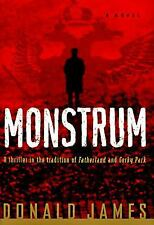 Monstrum by Donald James (1997, Hardcover) dust jacket has small tear