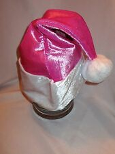Deluxe Santa Helper Hat Fuchsia Pink NEW One Size