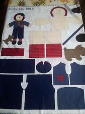 Rusty Rag Doll Kit Tissue de couture pour fabriquer une Poupée 50 cm
