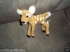 WILDLIFE ARTIST REALISTIC WHITE TAILED DEER FAWN SPOTTED STUFFED ANIMAL TOY