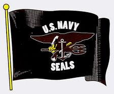 US Navy Seals Wavy Flag Decal