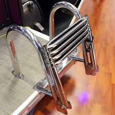 Boat 4 Step Ladder S.S Inboard Dock Ladder Marine Swim Ladder Very Nice