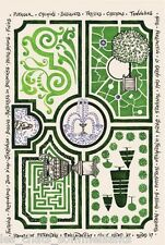 TORCHONS & BOUCHONS JARDIN A LA FRANCAISE FRENCH PRINTED KITCHEN / TEA TOWEL NEW