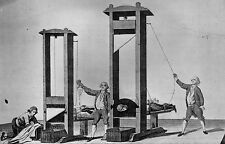 Framed Print - Twin Execution by Guillotine (Picture Capital Death Penalty Art)