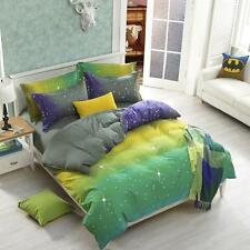 Sale Queen Double Size Bed Set Pillowcase Bat Sky Zip Open Quilt Duvet Cover O