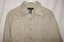 Crazy Horse Size L Long Sleeve Button Up Casual Shirt 100% Polyester Soft