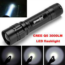4000 Lumens 3 Modes CREE XM-L T6 LED 18650 Focus Flashlight Torch Zoom Lamp