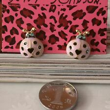 NEW Charm Betsey Johnson Beautiful Crystal Cartoon Ladybug Alloy Earring BJEA003