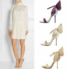 Sophia Webster Butterfly Wings High Heels Pointed Toe Ankle Strap Sandals Shoes