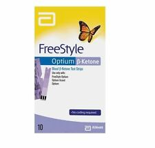 Abbott Freestyle Optium Ketone Test Strips x10 (10 Tests)