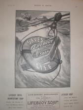 Lifebuoy Soap lifebelt advert UK 1901